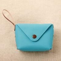Titch Closure Mini Money Pocket Wallet - Blue