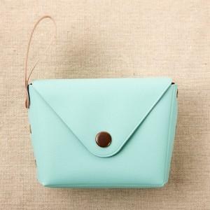 Titch Closure Mini Money Pocket Wallet - Sea Green