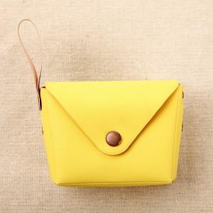 Titch Closure Mini Money Pocket Wallet - Yellow