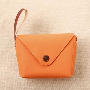 Titch Closure Mini Money Pocket Wallet - Orange