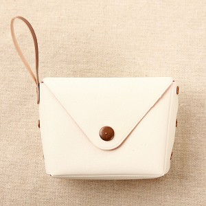 Titch Closure Mini Money Pocket Wallet - White