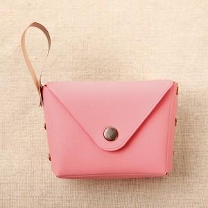 Titch Closure Mini Money Pocket Wallet - Peach Pink
