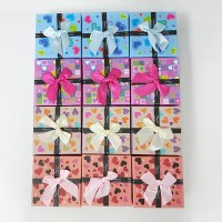 Printed Ribbon Bow Patched Fancy Gift 12 Pieces Watch Box Set - Multi Color