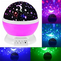 Romantic Moon Night Sky Stars Lights Projector - Pink
