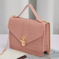 Animal Pattern Chain Strappy Messenger Bags - Pink