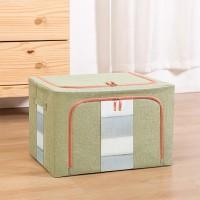 Zipper Closure Home Organizing Fancy Mesh Laundry Basket - Green
