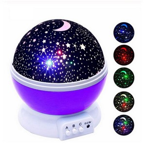 Romantic Moon Night Sky Stars Lights Projector - Purple