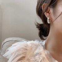 Girls Flower Circle Alloy Fashion Earrings - Golden