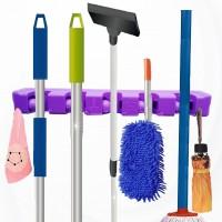 Wall Mount Heavy Duty  Mop And Broom Holder Organizer - Purple