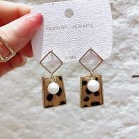 Girls Pearl Leopard Fashion Earrings - Leopard