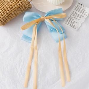 Cute Bow Tassel Women Fashion Fancy Hair Clips - Blue