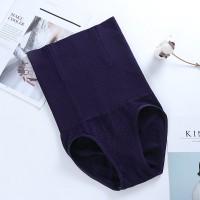 Nylon Stretchable High Waist Belly Slim Underwear - Dark Blue