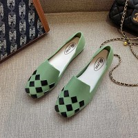 Patchwork Fancy Formal Wear Flat Shoes - Green