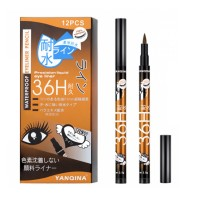 Women Fashion Water Resistant Face Grooming Eye Liner - Black Gold