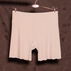 Elastic Stretchable Shorts Style Women Casual Underwear - Beige