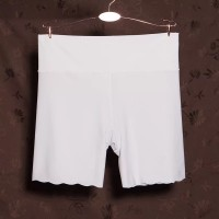 Elastic Stretchable Shorts Style Women Casual Underwear - White