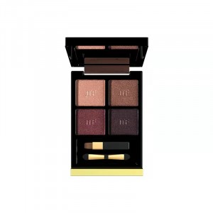 Four Shade Glittery Women Fashion Eye Shadow - Dark Shades