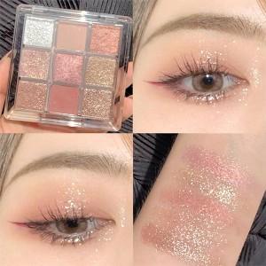 Party Glittery Women Face Makeup Eye Shadow Palette - Dark Shades