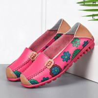 Floral Slip Over Casual Wear Flat Shoes - Pink