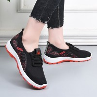 Sports Wear Lace Closure Fancy Wear Sneakers - Red