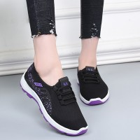 Sports Wear Lace Closure Fancy Wear Sneakers - Purple