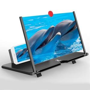 3D Mobile Phone Screen HD Video Magnifier Amplifier - Black