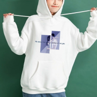 String Closure Full Sleeves Loose Wear Hoodie Top - White