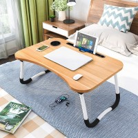 High Quality Laptop Ipad Table Desk - Light Brown
