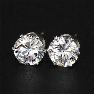 Crystal Fancy Wear Silver Plated Ear Tops