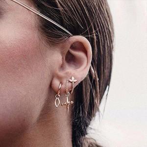 Gold Plated Fancy Wear Ear Jewellery Set