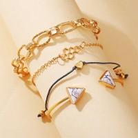 Four Pieces Gold Plated Women Fashion Bracelet Set