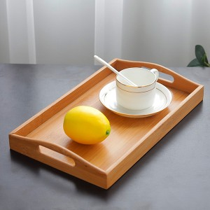 Multi Use Bamboo Pallet Wooden Tray - Brown