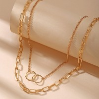 Gold Plated Braided Women Fashion Necklace