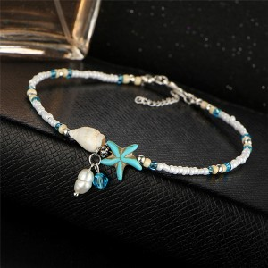 Sea Shell Patched Decorative Women Fashion Anklet