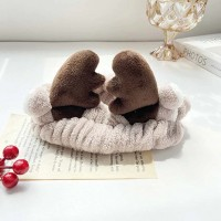 Animal Horn Cute Elastic Fluffy Hair Band - Brown