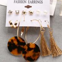 Tassel Six Pairs Women Fashion Earrings Set