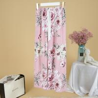 Printed Loose Wear Elastic Palazzo Bottom Trouser - Pink