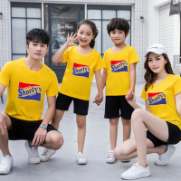 Round Neck Short Sleeves Casual Wear One Piece T-Shirt - Yellow