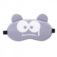 Printed Cartoonish Fancy Wear Peaceful Sleep Mask - Gray
