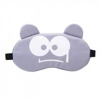 Printed Cartoonish Fancy Wear Peaceful Sleep Mask - Gray