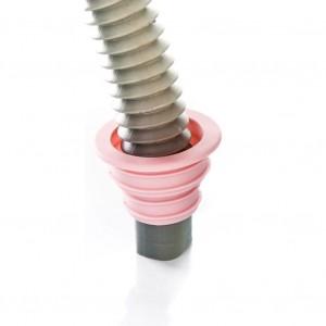 Multi Purpose Silicon Drain Pipe Fixture Silicon Seal Ring - Pink