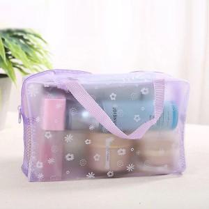 Zipper Closure Multipurpose Storage Bags - Purple