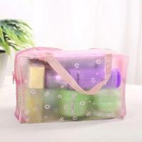 Zipper Closure Multipurpose Storage Bags - Pink