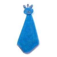 Kitchen Cartoon Animal Hanging Cloth Soft Plush Dish Cloth - Blue