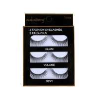 Set Of 3 PCs Extension Eyelashes Set - Black