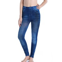 Plus Size Narrow Bottom Stretchable Thin Fabric Fitted Trouser Pants - Blue