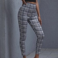 Check Printed Narrow Bottom Casual Wear Fitted Trousers - Multicolor