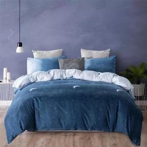 Ombre Design Print Single Size Duvet Cover Bed Sheet Set of 4 Pieces