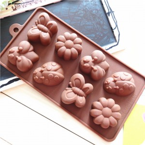 8 Shape Silicone Chocolate Mold