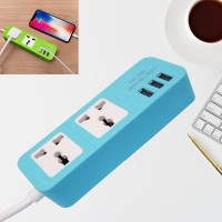 Good Quality Extension Power Socket With 3 USB Ports - Blue